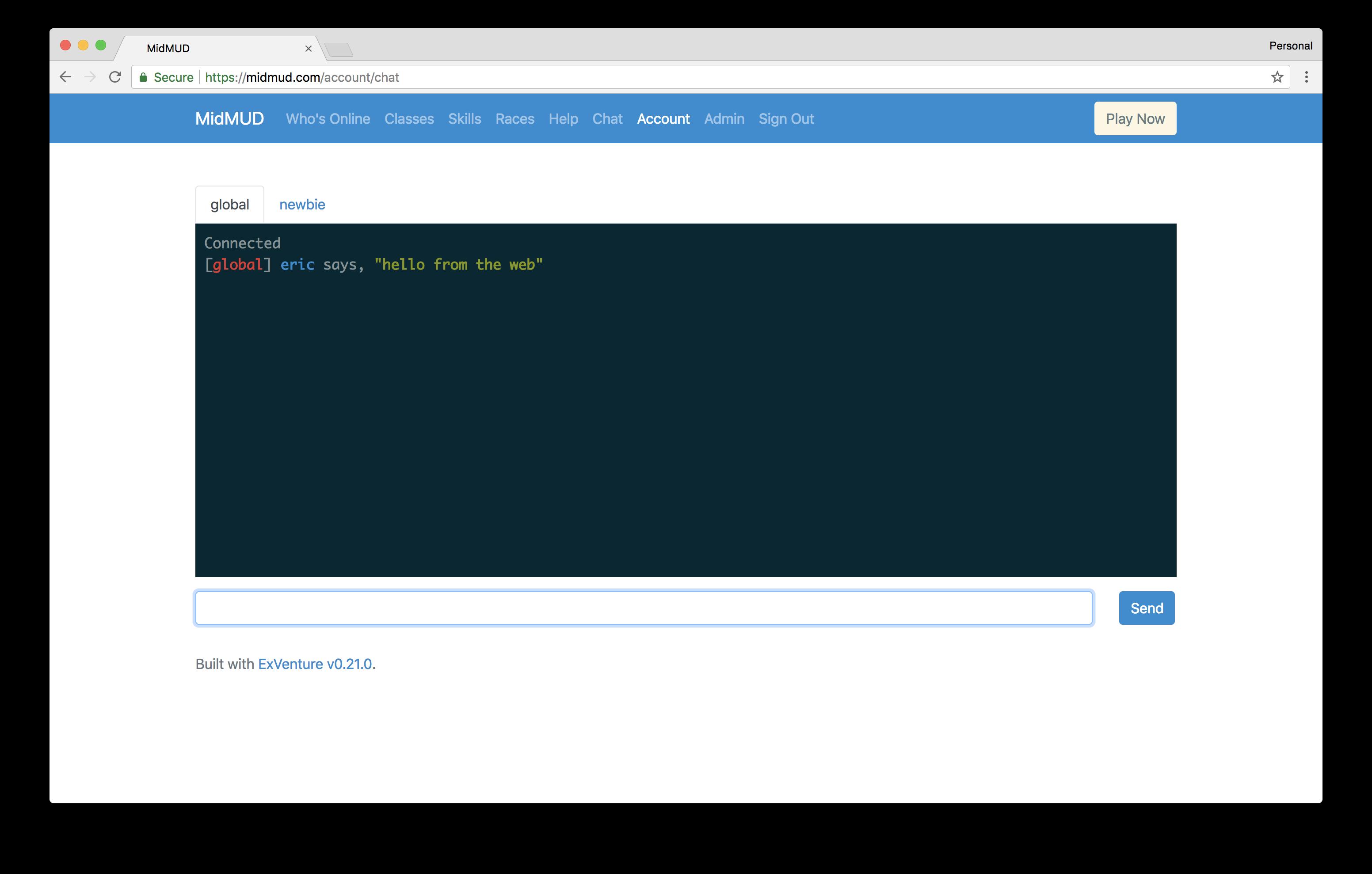 ExVenture Updates for May 2018 - Eric's Devblog